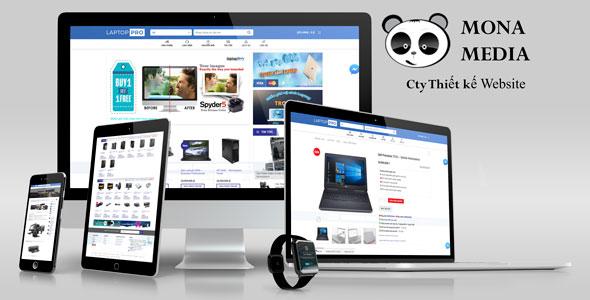 Mẫu website bán máy tính, laptop - LaptopPro.vn