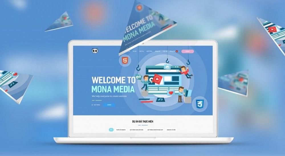 xây dựng website nhà hàng tại Mona