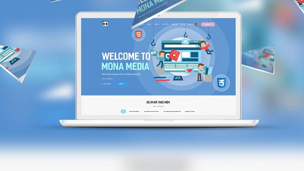 thiết kế website du lịch tại Mona Media