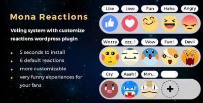 Mona Reaction - wordpress plugin