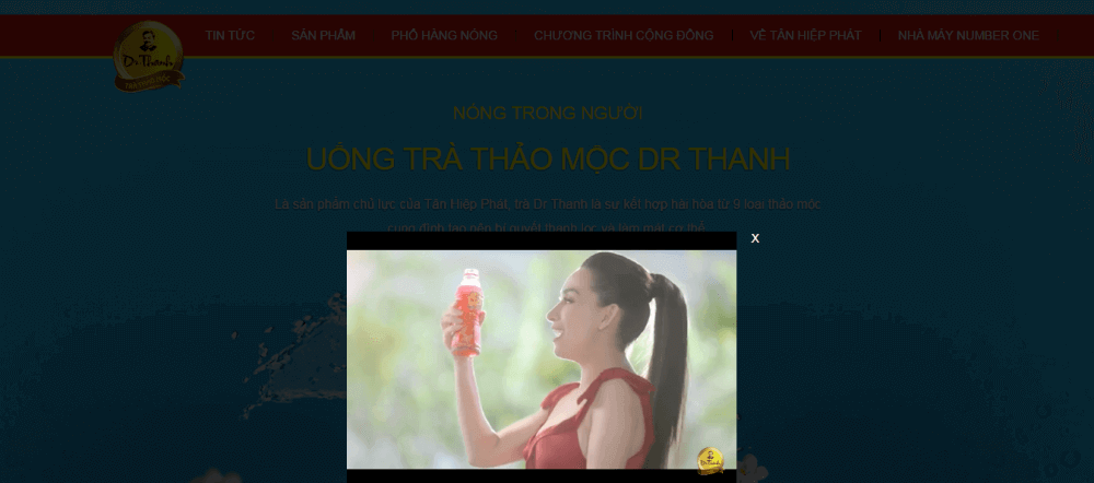 Landing page dạng video