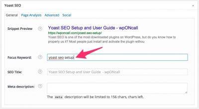 Phân tích từ khóa chính (focus keyword) là một trong những chức năng quan trọng của SEO Yoast