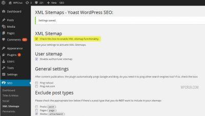 Chức năng điều chỉnh XML Sitemaps của SEO Yoast đóng vai trò quan trọng với website chuẩn SEO.