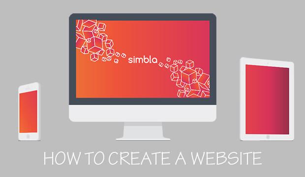 sử dụng nền tảng simbla để tạo một website
