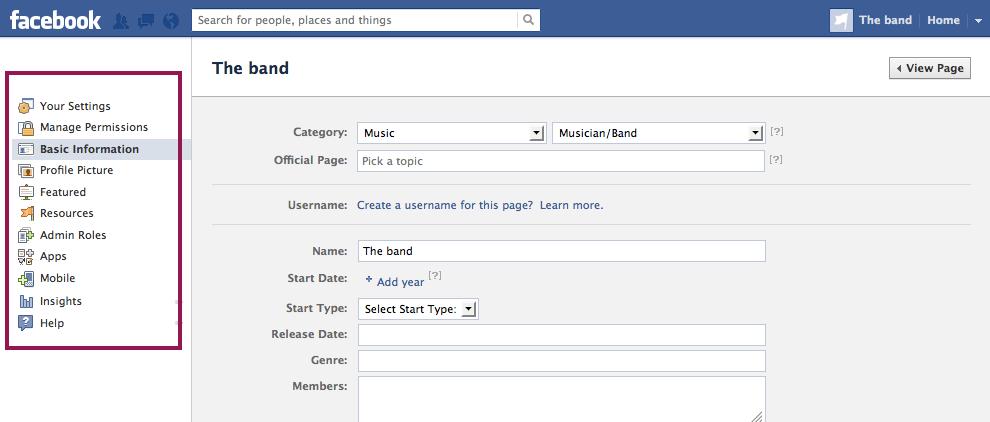 Hãy điền đầy đủ thông tin khi cài đặt fanpage facebook.
