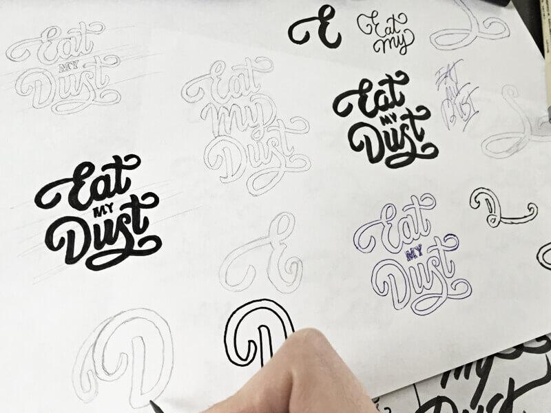 Vẽ tay mẫu chữ viết thư
