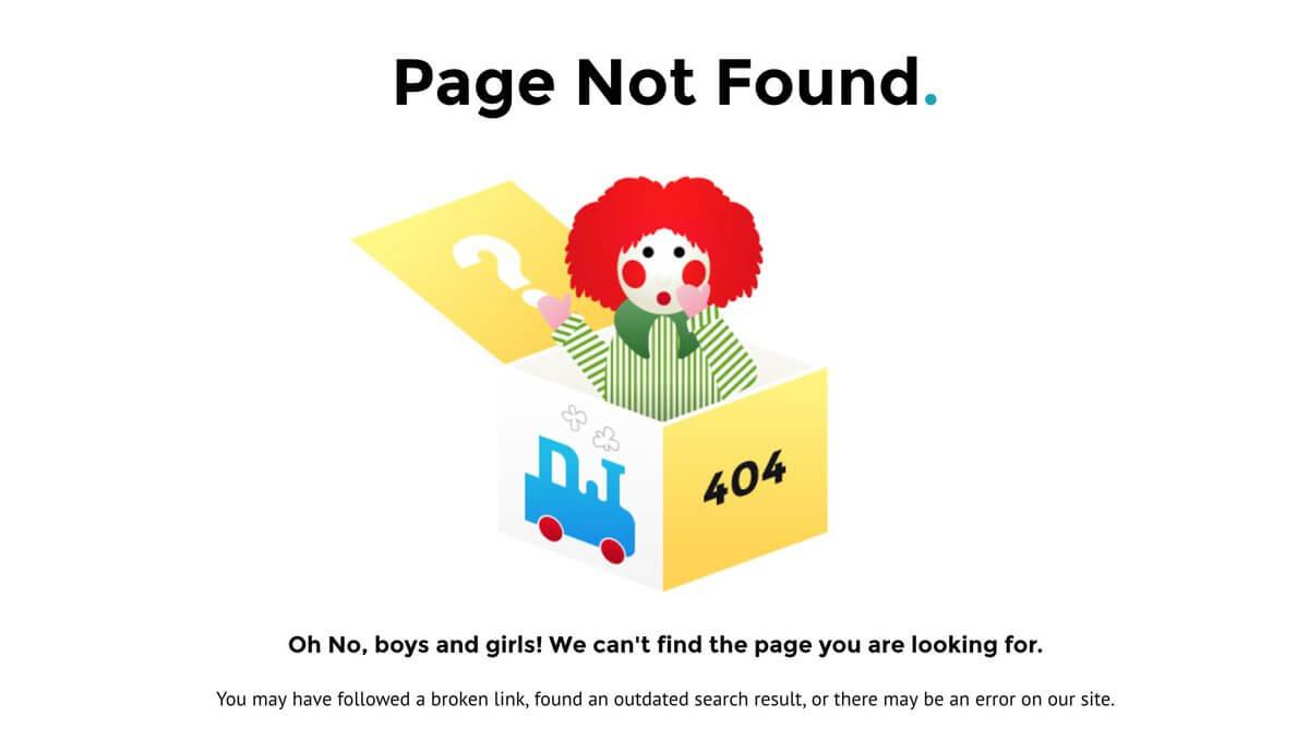 """Một trong những dấu hiệu để biết lỗi 404 là gì chính là cụm từ """"Page not found"""""""