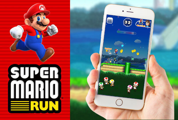 Wao, Mario on Iphone