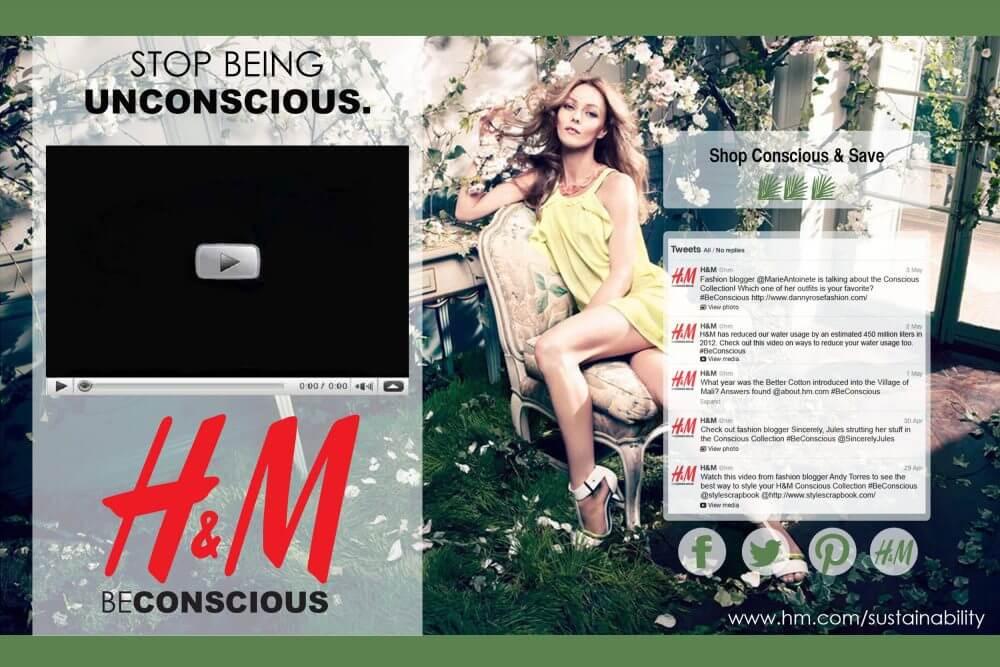 microsite của H&M