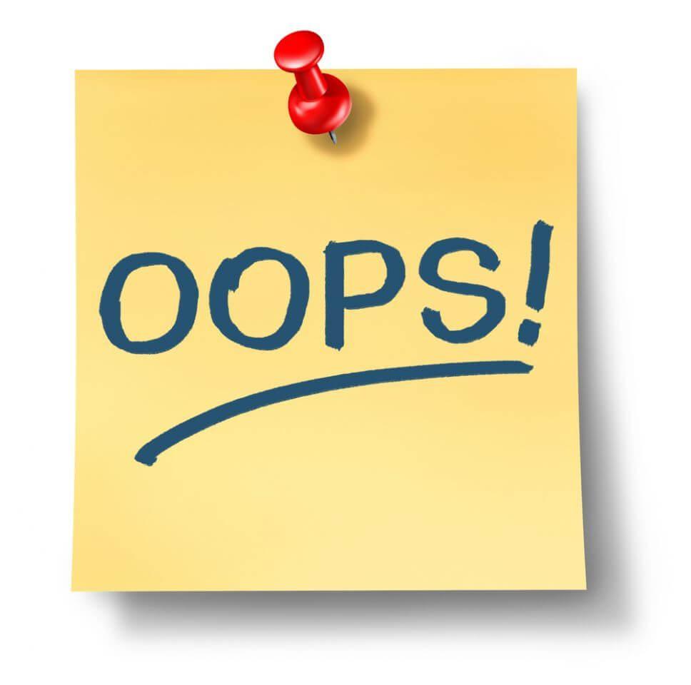Những lỗi thường mắc phải trong wordpress