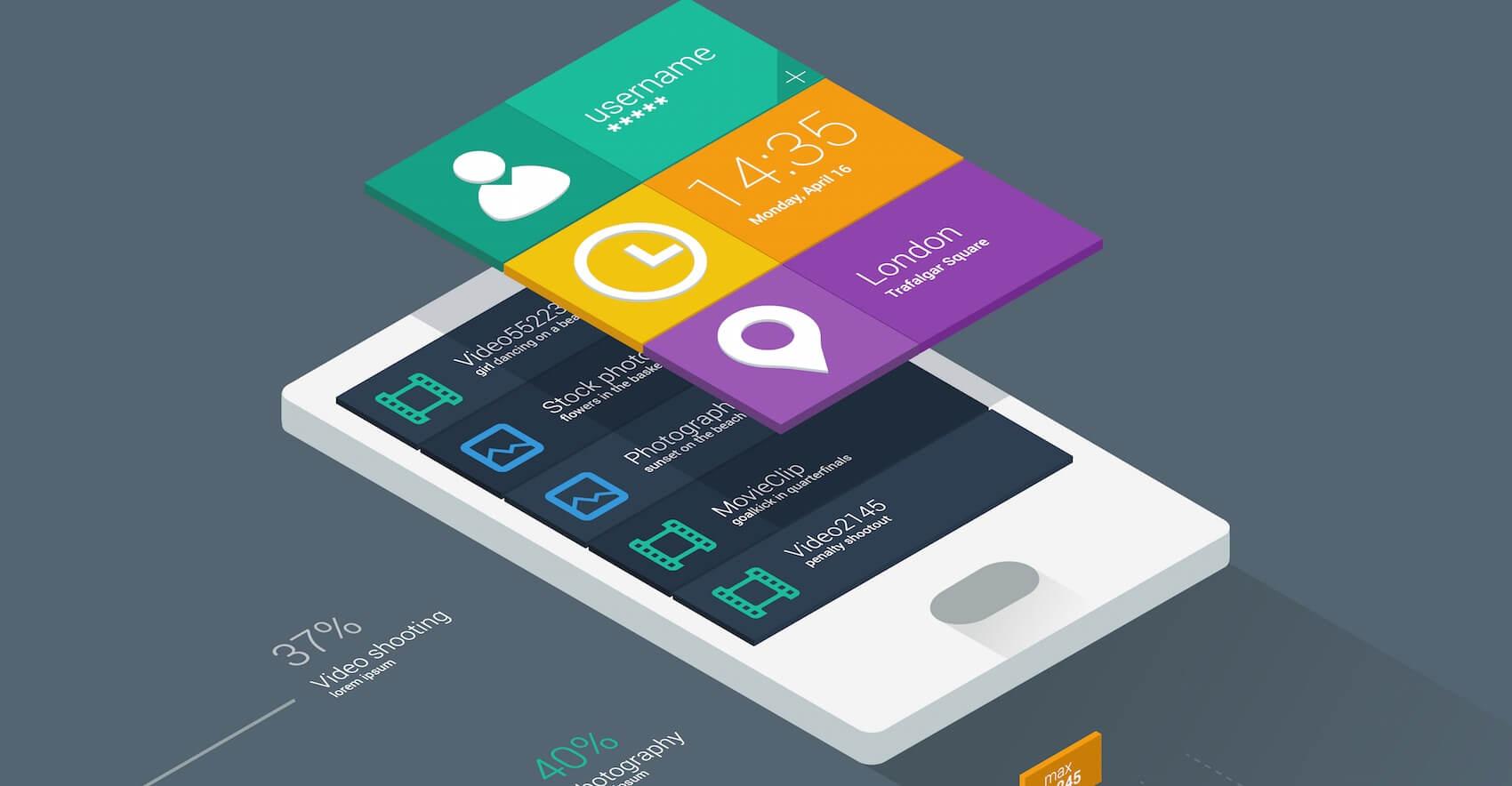 Giao diện phẳng là một trong những xu hướng mới cho việc thiết kế website bán điện thoại chuyên nghiệp.