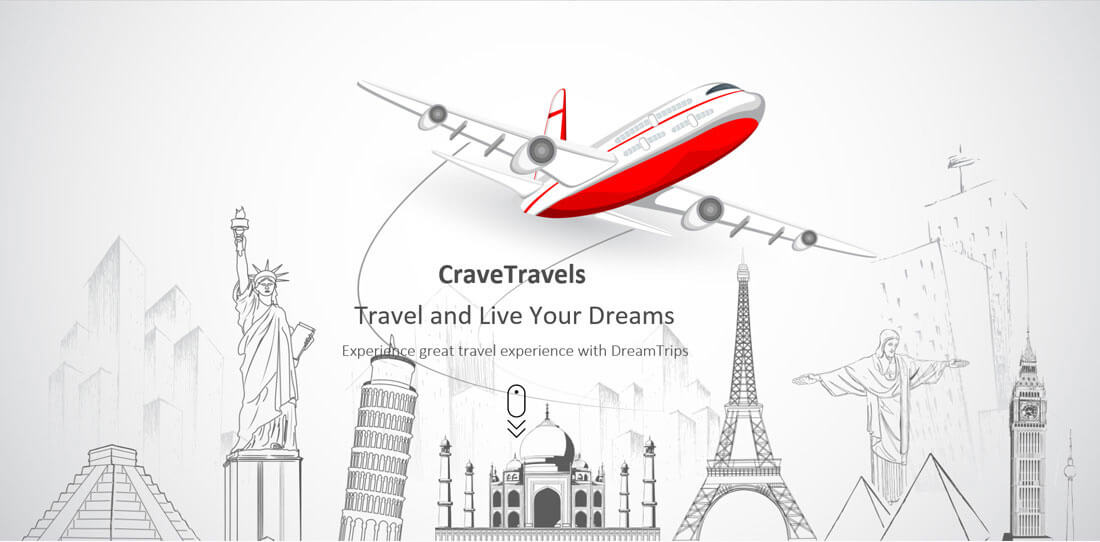 Design tour travel website profesional
