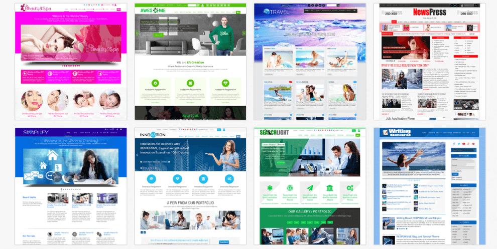 Các module cần có khi thiết kế web giới thiệu