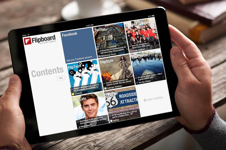 Flipboard là gì? Flipboard là ứng dụng cho phép bạn chia sẻ nội dung qua các trang mạng xã hội.