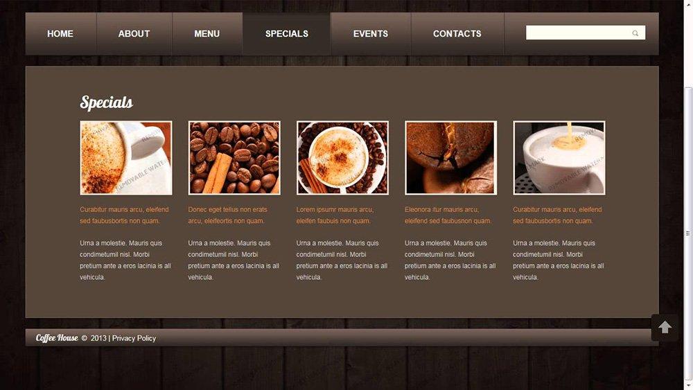 Thiết kế website quán café