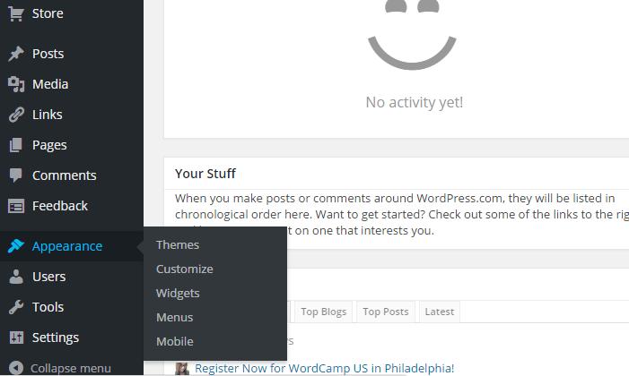 thay đổi giao diện website wordpress