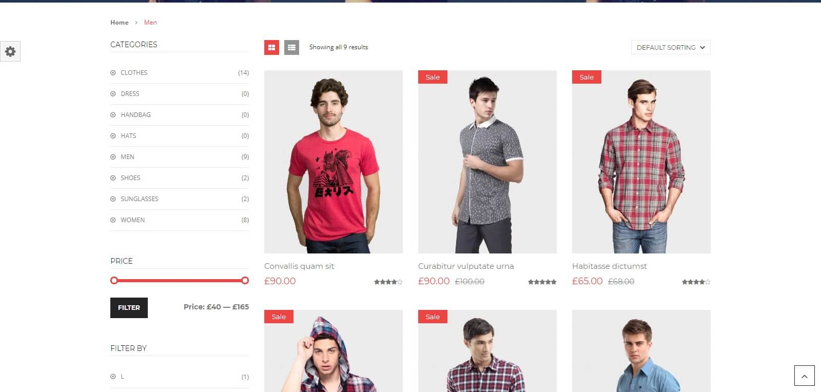 Các chức năng của mẫu website bán hàng thời trang