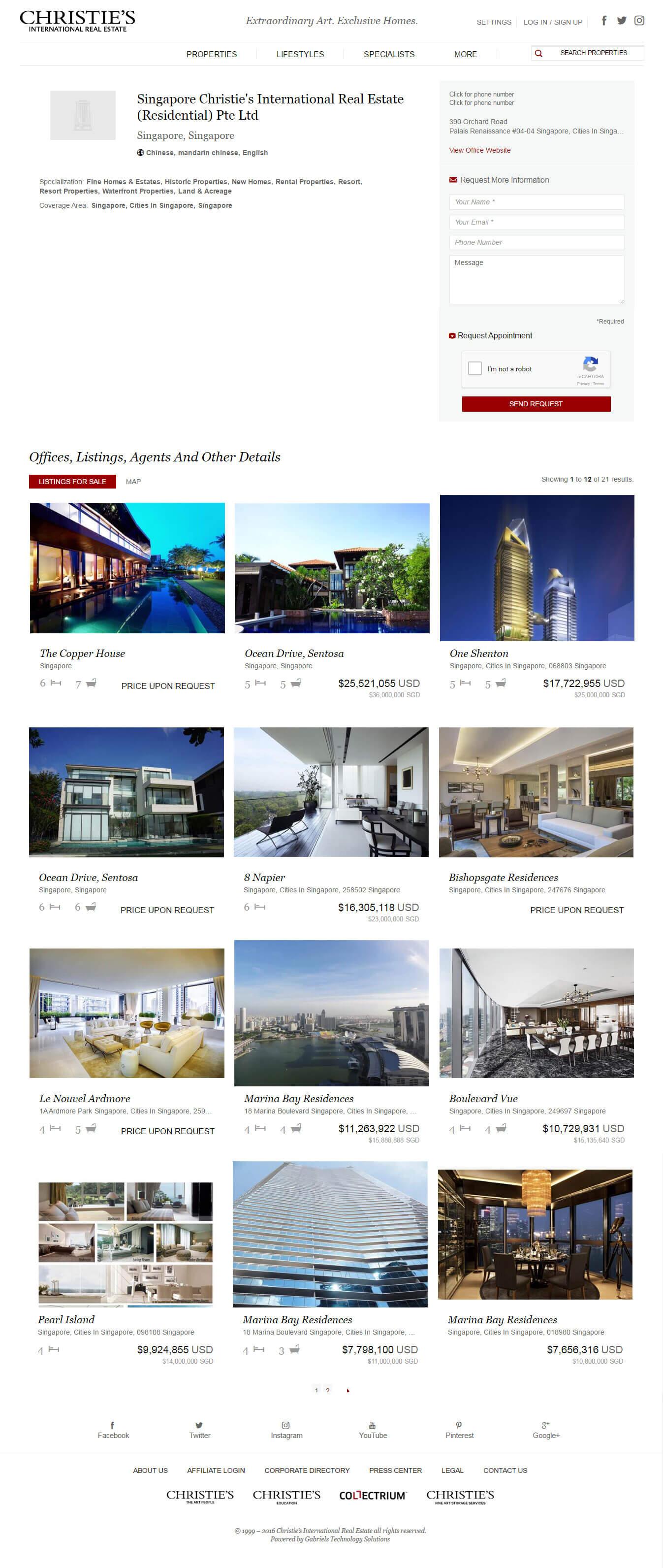 Mẫu website giới thiệu bất động sản