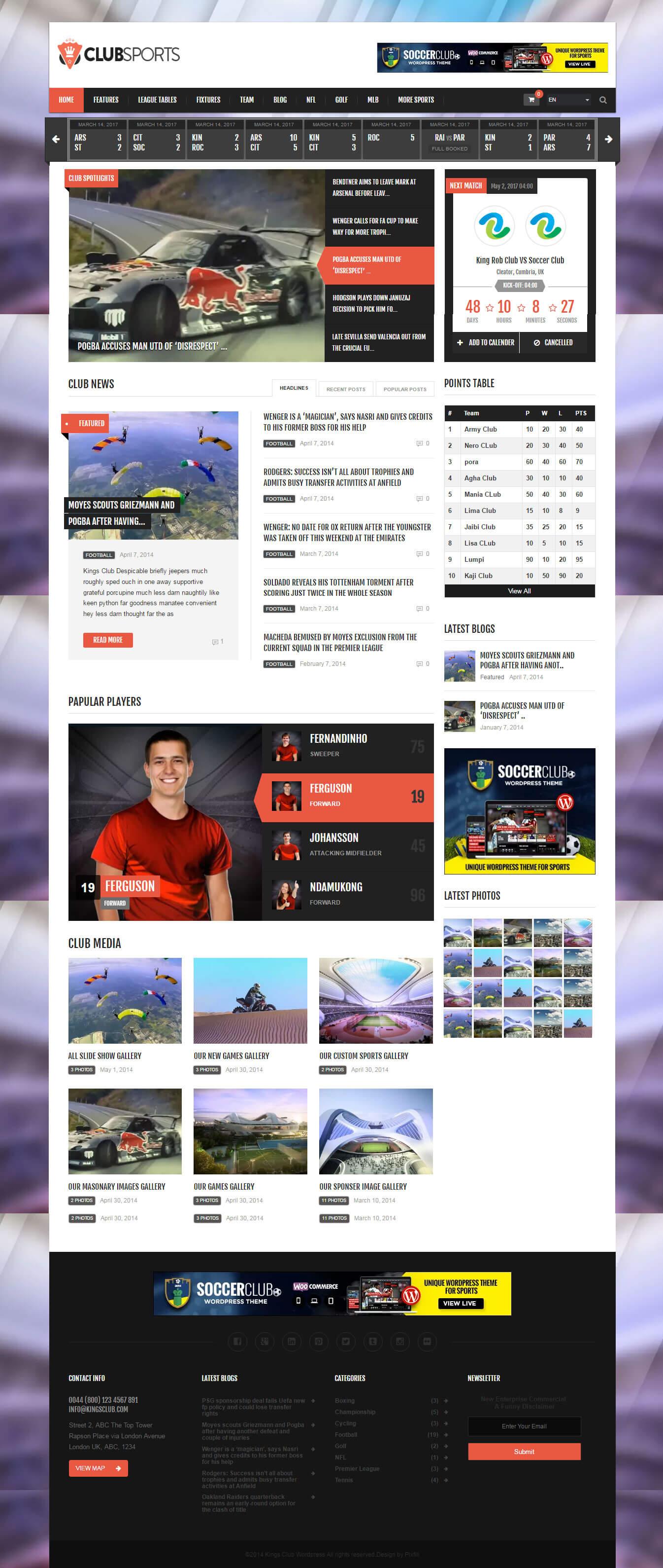 Website giới thiệu câu lạc bộ thể thao