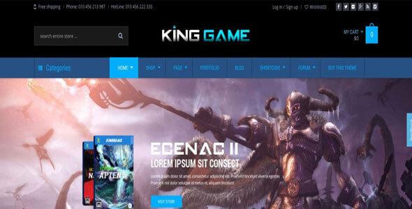 Mẫu website bán game - shop bán game online - review game