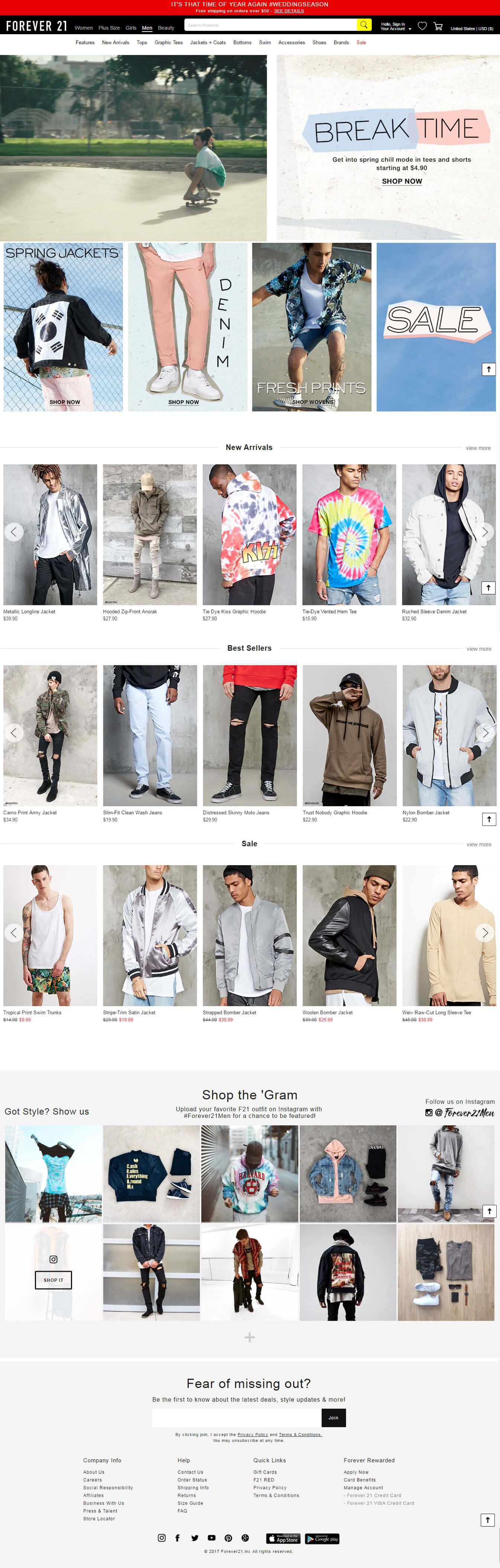 Mẫu thiết kế website bán hàng thời trang nam