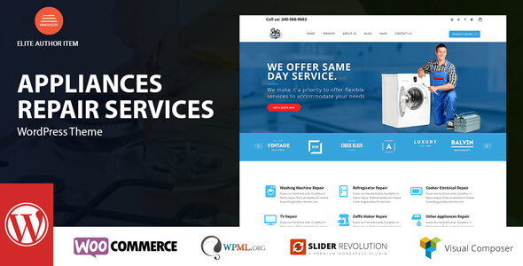 Mẫu website dịch vụ sửa chữa máy giặt