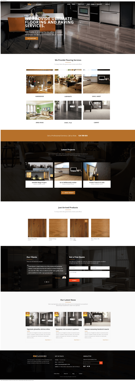 Mẫu website dịch vụ vệ sinh nhà cửa