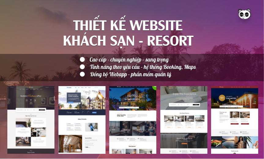 Thiết kế website khách sạn, resort