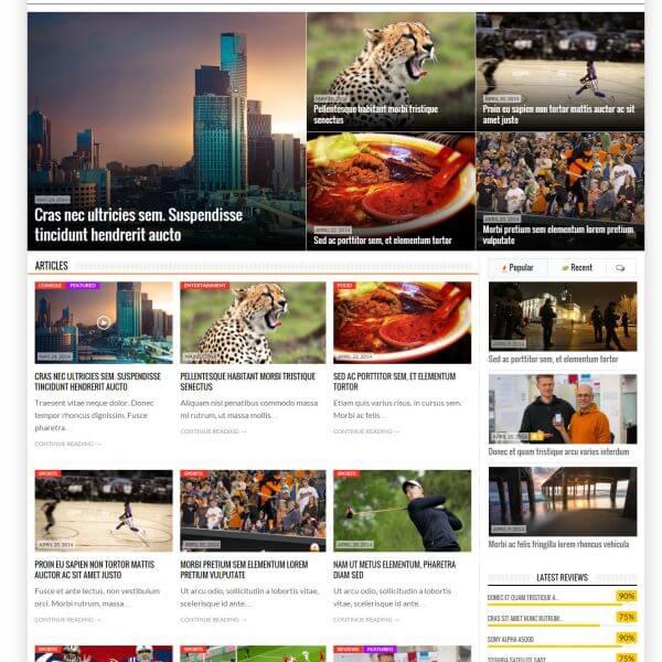 Mẫu website tin tức