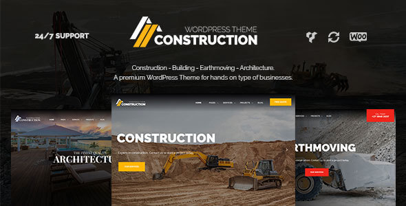 Mẫu website xây dựng chuyên nghiệp