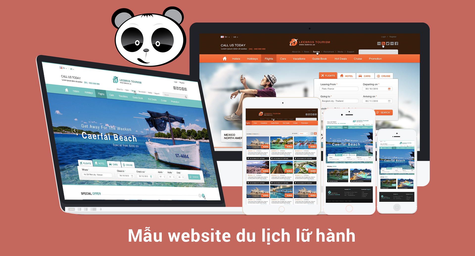 Mẫu website du lịch lữ hành