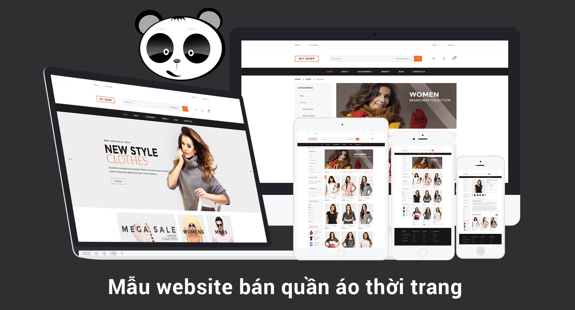 Mẫu website bán hàng quần áo