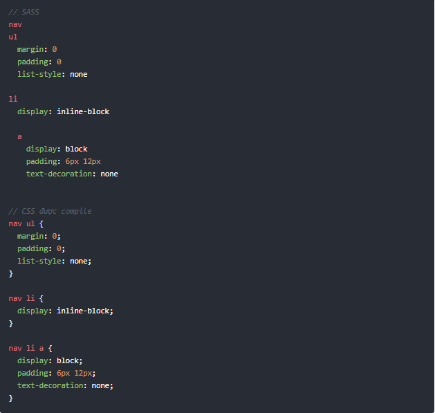 Cách code Sass