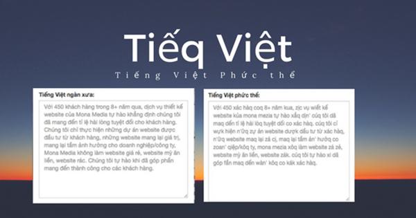 Công cụ chuyển đổi tiếng Việt kiểu mới