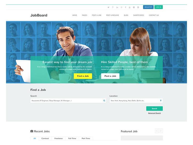 Các module, chức năng của mẫu website tìm việc
