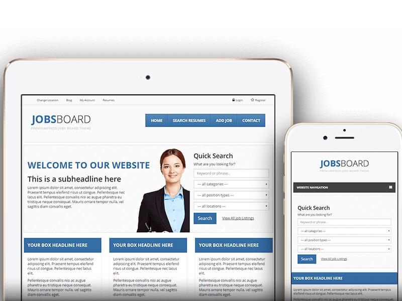 Thiết kế website tìm việc, tuyển dụng, việc làm chuẩn responsive