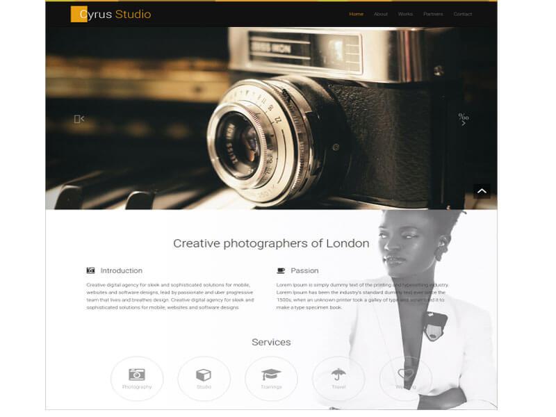 mẫu website nhiếp ảnh, studio, chụp ảnh cưới