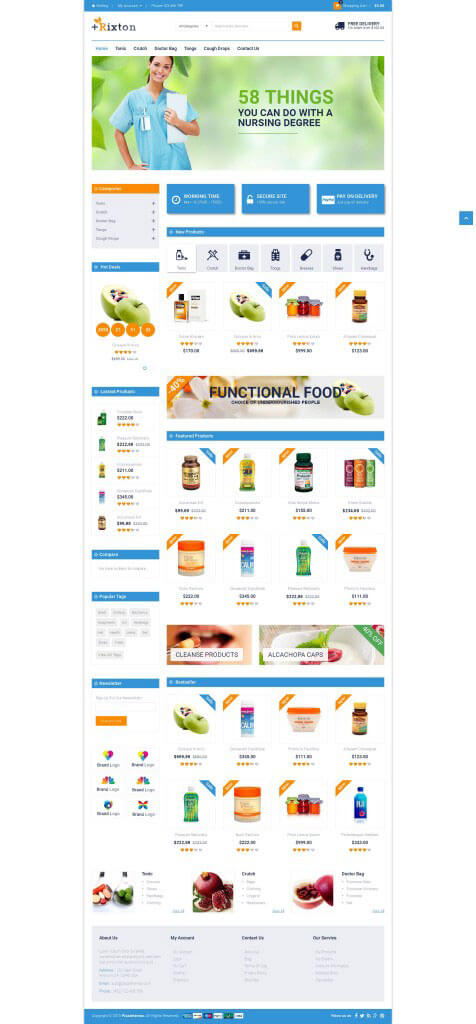 Mẫu website thực phẩm chức năng đẹp