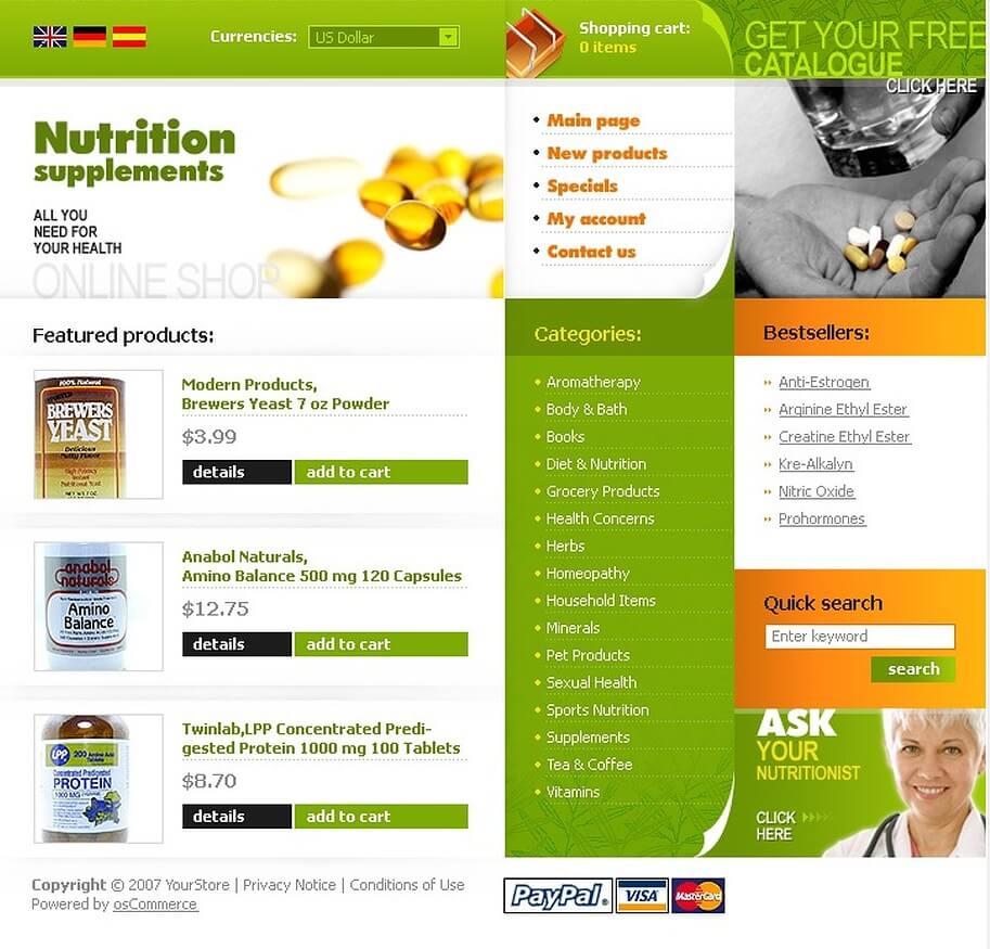 Điểm nổi bật của mẫu website thực phẩm chức năng của Mona Media