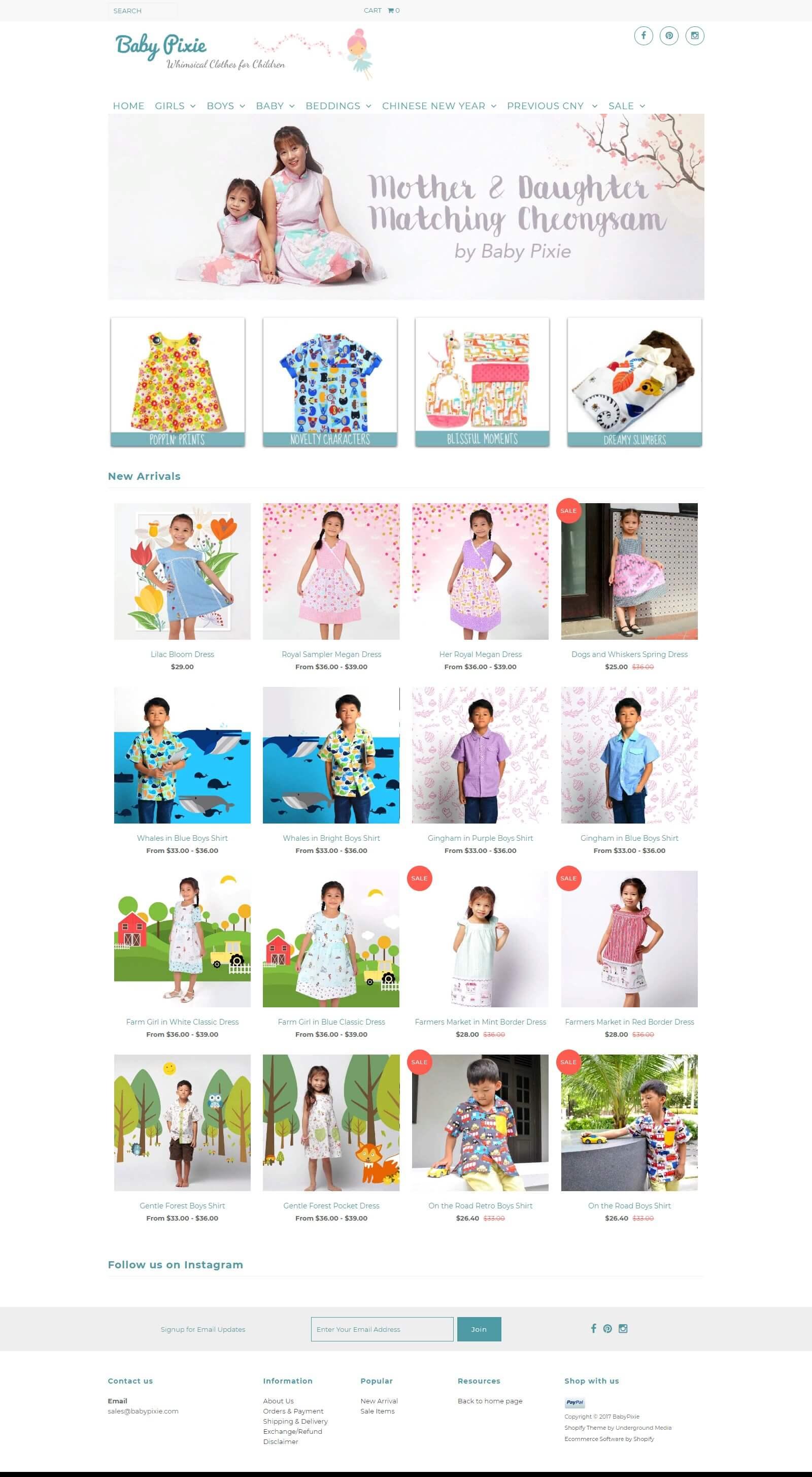 Mẫu website bán hàng quần áo trẻ em đẹp mắt, chuẩn seo