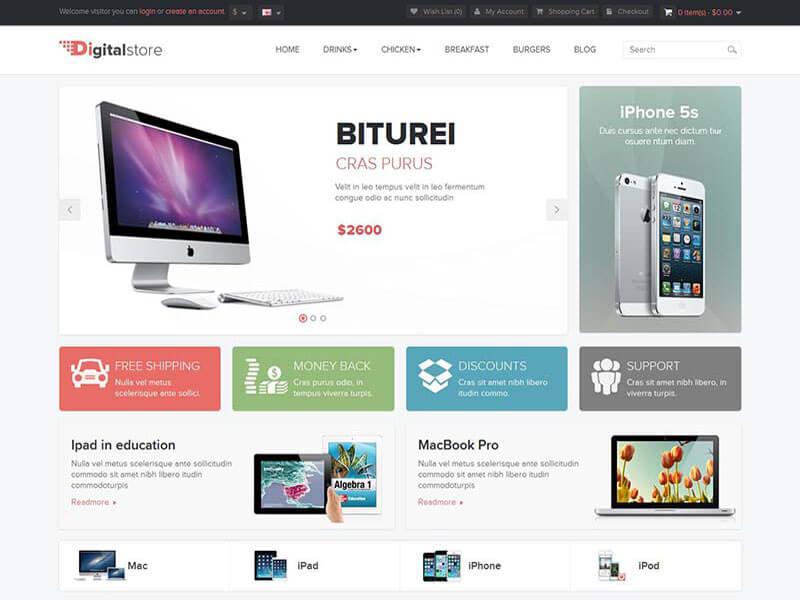 Các tính năng của mẫu website bán hàng kỹ thuật số