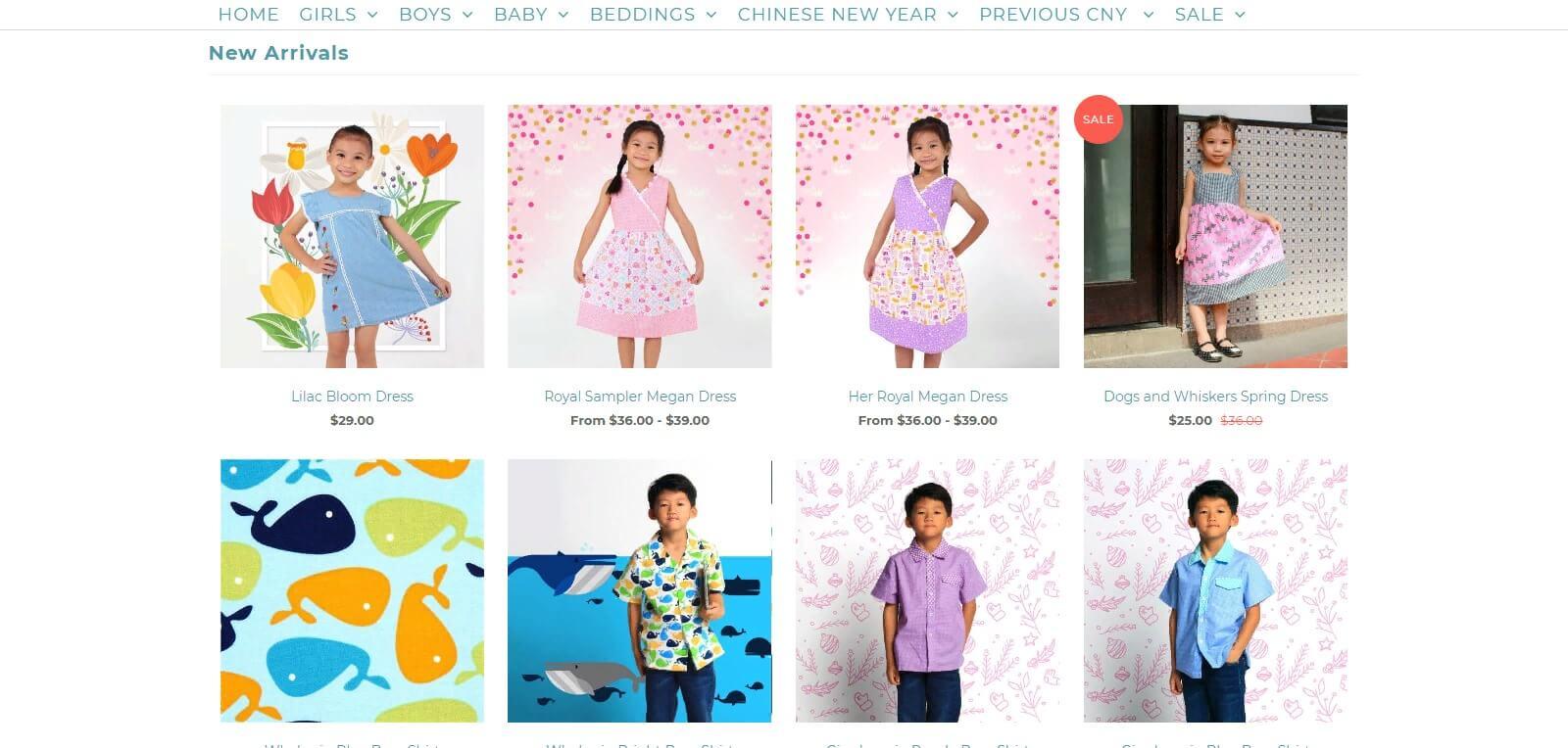 Thiết kế website bán hàng quần áo trẻ em, tăng lợi thế cạnh tranh