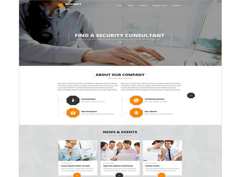 Tính năng mẫu website thám tử, bảo vệ, an ninh của Mona Media