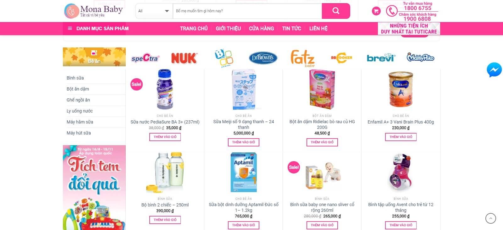 Các module của mẫu website giới thiệu công ty