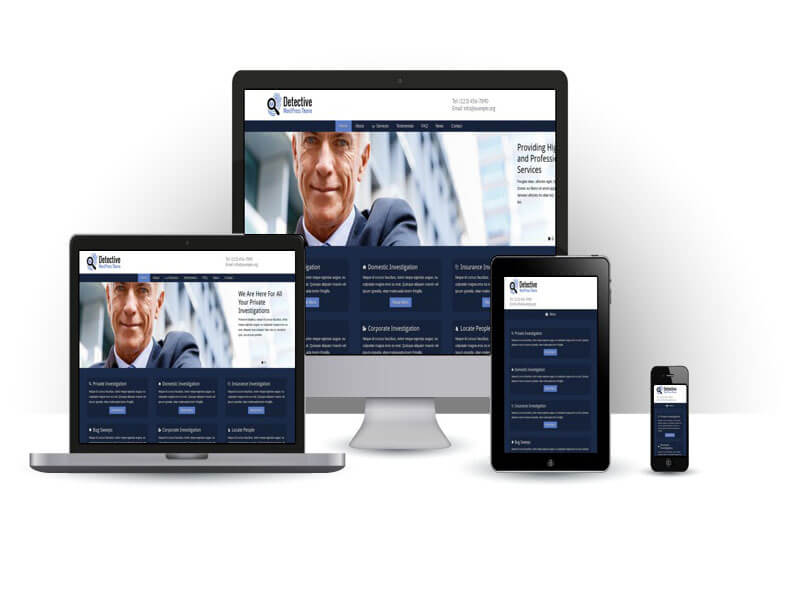 Thiết kế web thám tử, bảo vệ hiển thị giao diện di động