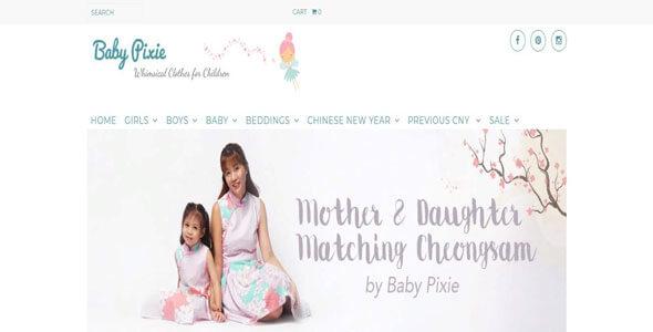 Mẫu website bán hàng quần áo trẻ em | Thiết kế website bán hàng quần áo trẻ em