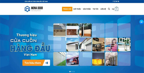 Mẫu website giới thiệu công ty | Thiết kế website giới thiệu công ty