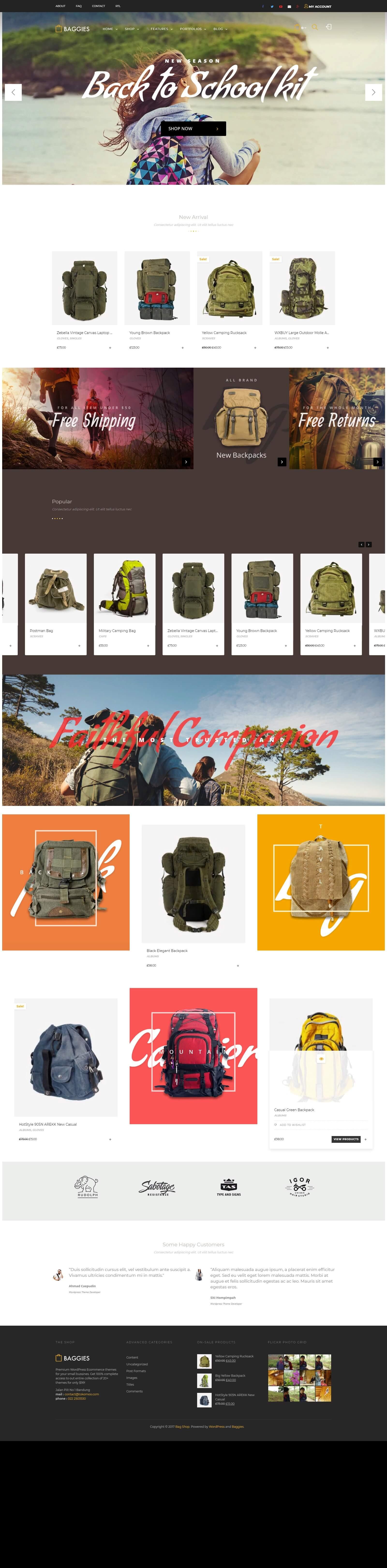 Mẫu website bán hàng balo thời trang đẹp mắt, chuyên nghiệp, chuẩn seo