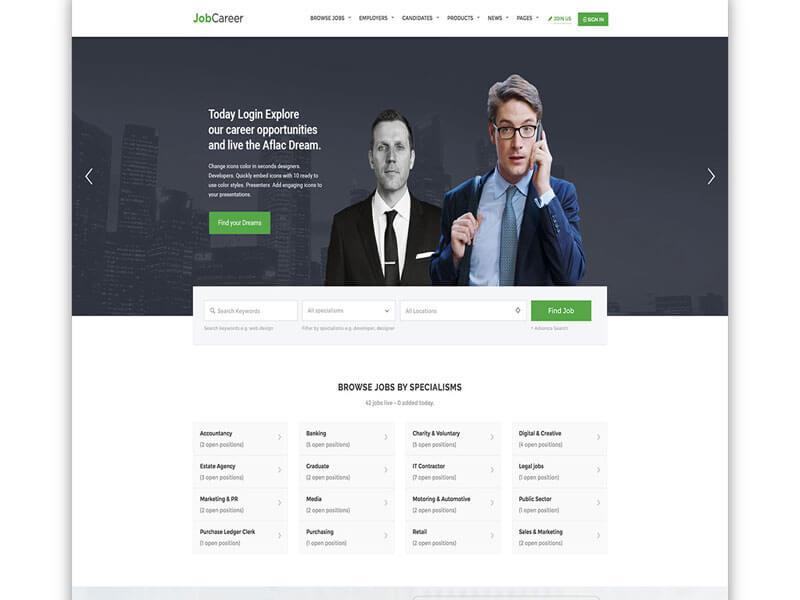 Thiết kế website tuyển dụng môi giới việc làm