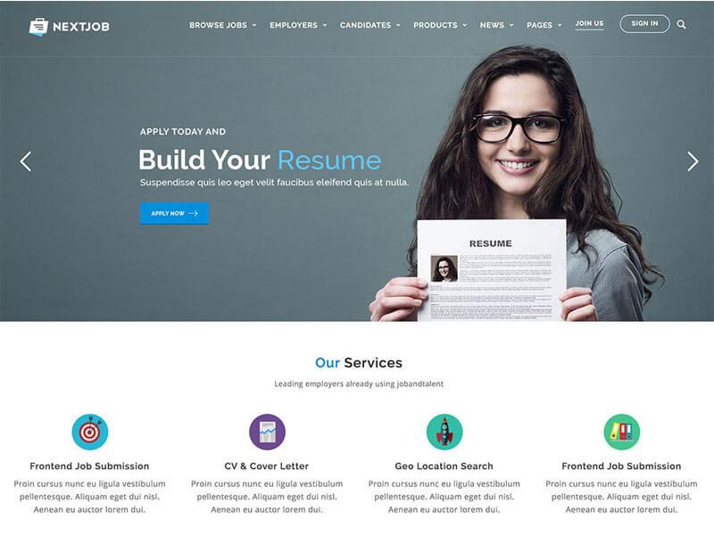 Các chức năng của mẫu website tuyển dụng
